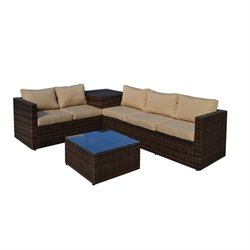 The-Hom Gran Melia 4 Piece Wicker Outdoor Sofa Set