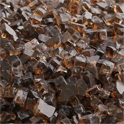TKC 12 lbs Fire Glass For Gas Fire Pit in Amber