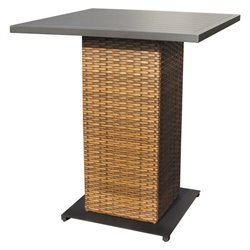 TKC Laguna Outdoor Wicker Pub Table in Caramel