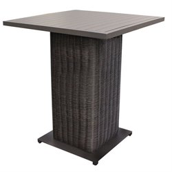 TKC Venice Outdoor Wicker Pub Table in Chestnut Brown