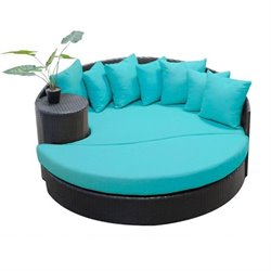 Newport Outdoor Wicker Circular Daybed