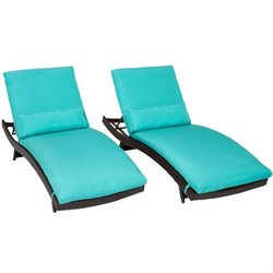 Bali Wicker Patio Lounges (Set of 2)