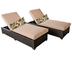 Classic Wicker Patio Lounges (Set of 2)