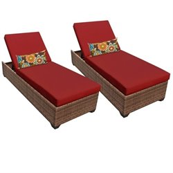 Laguna Wicker Patio Lounges (Set of 2)