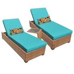 Laguna 2 Wicker Patio Lounges With Side Table