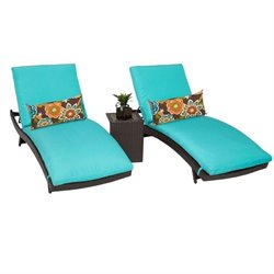 Bali 2 Wicker Patio Lounges With Side Table