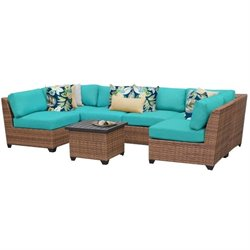 Laguna 7 Piece Outdoor Wicker Sofa Set 3