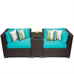 Barbados 3 Piece Outdoor Wicker Sofa Set 2