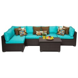 Belle 6 Piece Outdoor Wicker Sofa Set