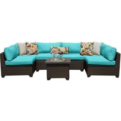 Belle 7 Piece Outdoor Wicker Sofa Set
