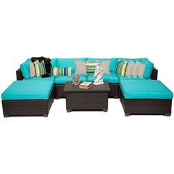 Belle 7 Piece Outdoor Wicker Sofa Set 2