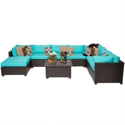 Belle 9 Piece Outdoor Wicker Sofa Set 2