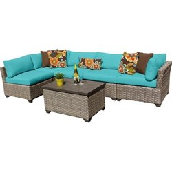 Monterey 6 Piece Outdoor Wicker Sofa Set