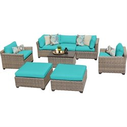 Monterey 8 Piece Outdoor Wicker Sofa Set