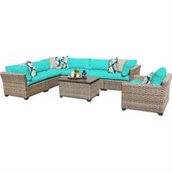 Monterey 8 Piece Outdoor Wicker Sofa Set 2