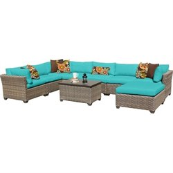Monterey 9 Piece Outdoor Wicker Sofa Set 2
