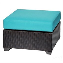 Barbados Patio Wicker Ottoman