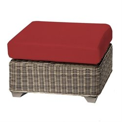 Cape Cod Patio Wicker Ottoman