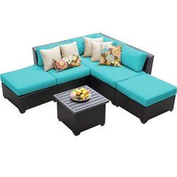Barbados 6 Piece Outdoor Wicker Sofa Set 6