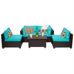 Belle 5 Piece Outdoor Wicker Sofa Set 3