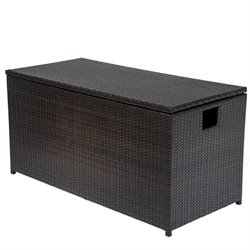 TKC Outdoor Wicker Patio Storage Chest in Espresso