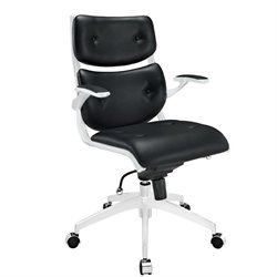 Modway Push Leather Swivel Office Chair