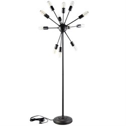 Modway Spectrum Metal Floor Lamp in Black