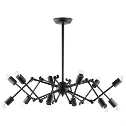 Modway Tagmata Steel Semi Flush Mount in Black