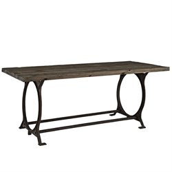 Modway Effuse Dining Table in Brown