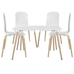 Modway Stack 5 Piece Dining Set