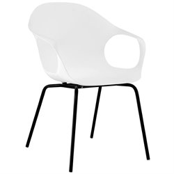 Modway Swerve Dining Arm Chair in White
