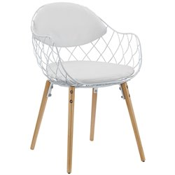 Modway Basket Dining Arm Chair in White