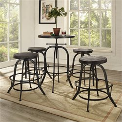 Modway Gather Round Adjustable Pub Set