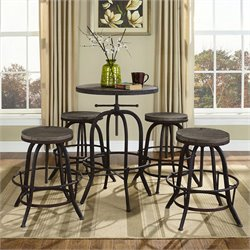 Modway Gather Round Adjustable Pub Set 1