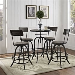 Modway Gather Round Adjustable Pub Set 2