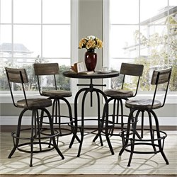 Modway Gather Round Adjustable Pub Set 3