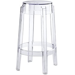 Modway Casper Bar Stool in Clear