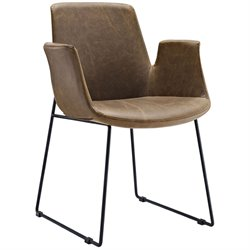 Modway Aloft Faux Leather Dining Arm Chair