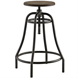 Modway Toll Adjustable Bar Stool in Brown