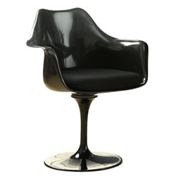 Modway Lippa Dining Arm Chair in Black