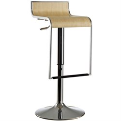Modway LEM Wood Adjustable Swivel Bar Stool