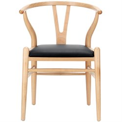 Modway Amish Dining Arm Chair in Black