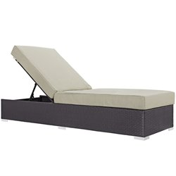 Modway Convene Adjustable Patio Chaise Lounge