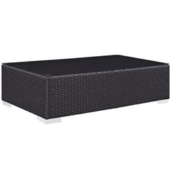 Modway Convene Patio Coffee Table in Espresso