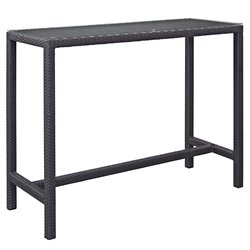 Modway Convene Patio Pub Table in Espresso