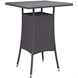 Modway Convene Square Patio Pub Table in Espresso