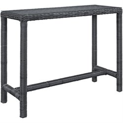 Modway Summon Patio Pub Table in Gray
