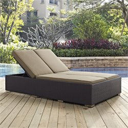 Modway Convene Patio Double Chaise Lounge