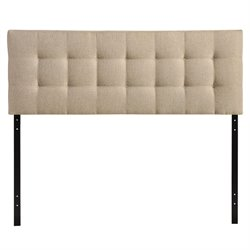 Modway Lily Tufted Panel Headboard in Beige