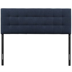 Modway Lily Tufted Panel Headboard in Navy